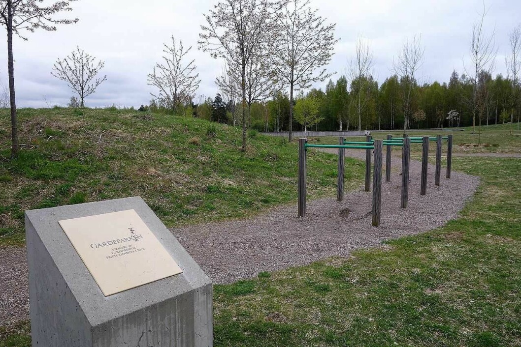 Oslos nye vannrenseanlegg legges i skogen bak Gardens leir på Huseby. Foto: Forsvaret/Wikimedia