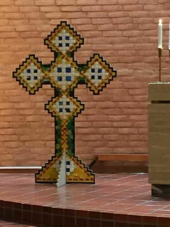 Iota-korset er hentet fra den koptiske kirken i Egypt. Foto: Kjersti Opstad