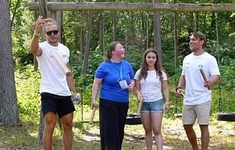 Vålerengas iskrigere besøkte Kreftforeningens sommerleir