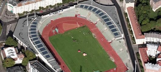 Bislett stadion har fått 1100 kvadratmeter solcellepaneler