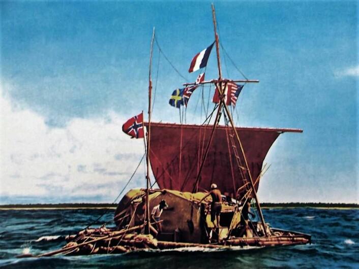 Thor Heyerdahls ekspedisjon over Stillehavet på en balsaflåte ble dømt nord og ned før avreise fra Sør-Amerika. Men det multinasjonale mannskapet klarte å krysse det enorme havstrekket. Foto: Kon-Tiki museet