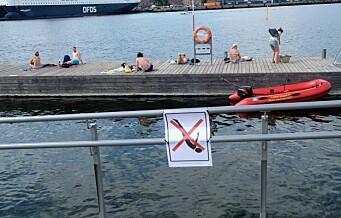 Rutinene for vakthold på Sørenga endres ikke etter helgens badeulykke