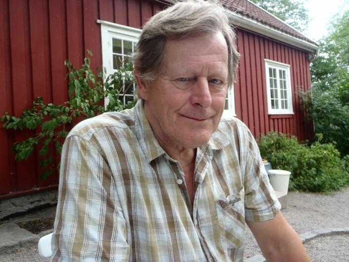 Thore Randolf Karlsen (68) fra Bjølsen har med få unntak besøkt alle stolpene som Stolpejakten har plassert ut i Oslo og i Marka. Foto: Anders Høilund