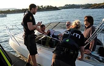 Politibåten i Oslo: — Vi stanser oftere og oftere båtførere med promille helt på grensen