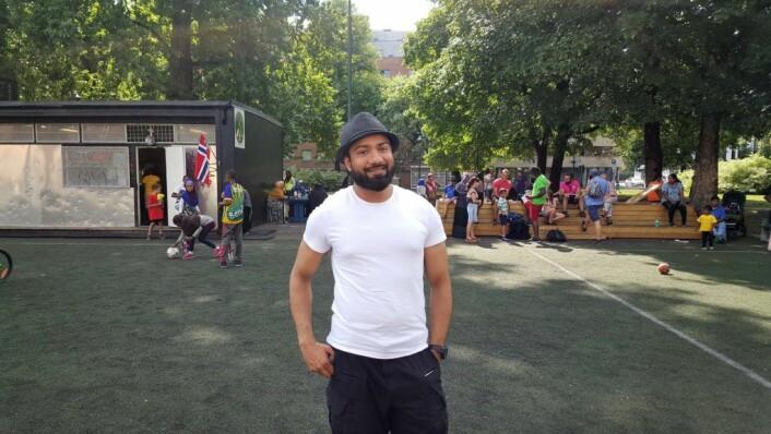 Imhan Khan koordinerer bydel Gamles Oslo sommerjobbing. Foto: Tarjei Kidd Olsen