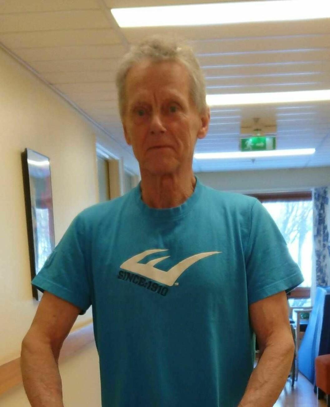Nytt oppdatert bilde av savnede. � T-skjorten skal være den som savnede trolig hadde på seg da han forsvant fra Madserudhjemmet. Tips oss på 02800, sier politiet. Foto: Politiet