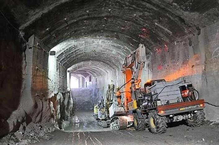Follobanen får Norges lengste jernbanetunnel på 22 kilometer. Reisetiden mellom Oslo sentralstasjon og Ski kortes ned til 11 minutter når Follobanen står ferdig. Foto: Bane Nor