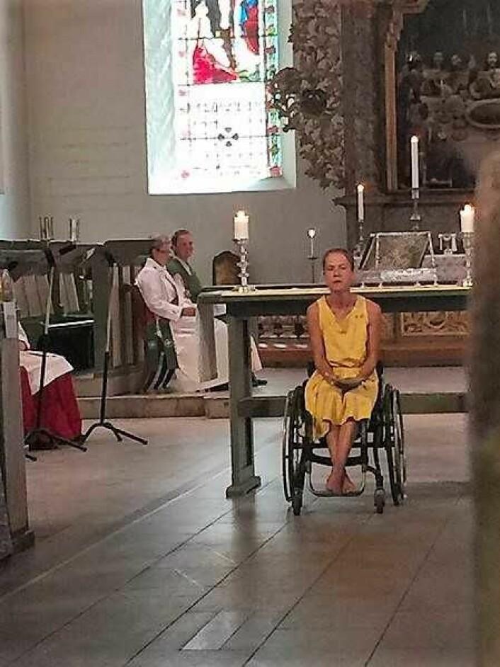 Vakker sang fra Anna-Maja Helgesdottie Andersen. Foto: Kjersti Opstad