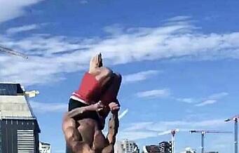19-åringen Sofus lader opp til turn-EM med akrobatikk og bading på Sørenga