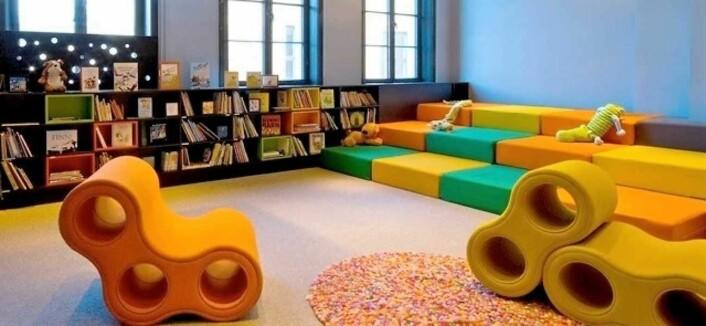 Barnerommet Sjeherasad er tilpasset foreldre med barn opp til sju år. Foto: Litteraturhuset