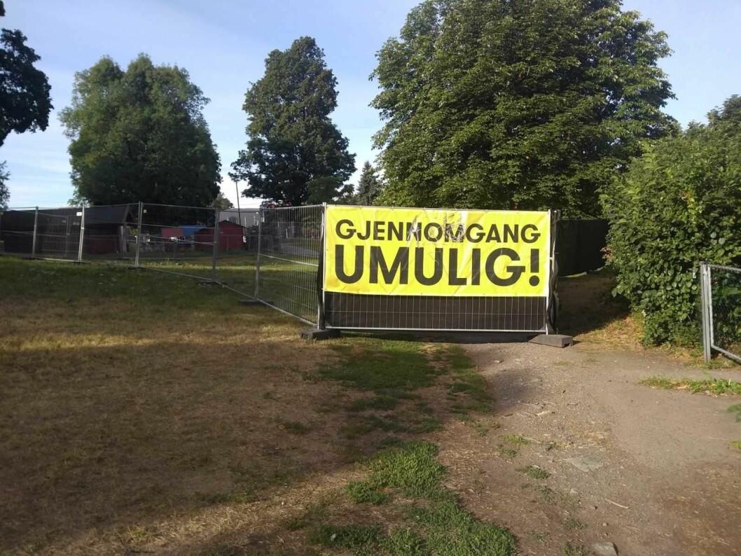 Hvert år legger Øyafestivalen og Miniøya beslag på Tøyenparken i en måned til sammen. Det er for mye. Foto: Arnfinn Pettersen,