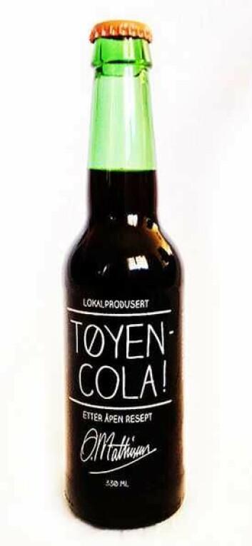 Tøyen Cola med navnet på mystiske O. Mathisen. Foto: O. Mathisen