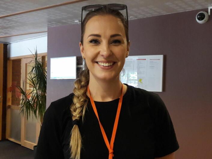 Kultur- og frivillighetsleder Kristine Thomassen ved Sofienbergsenteret. Senteret drives av Kirkens bymisjon. Foto: Anders Høilund