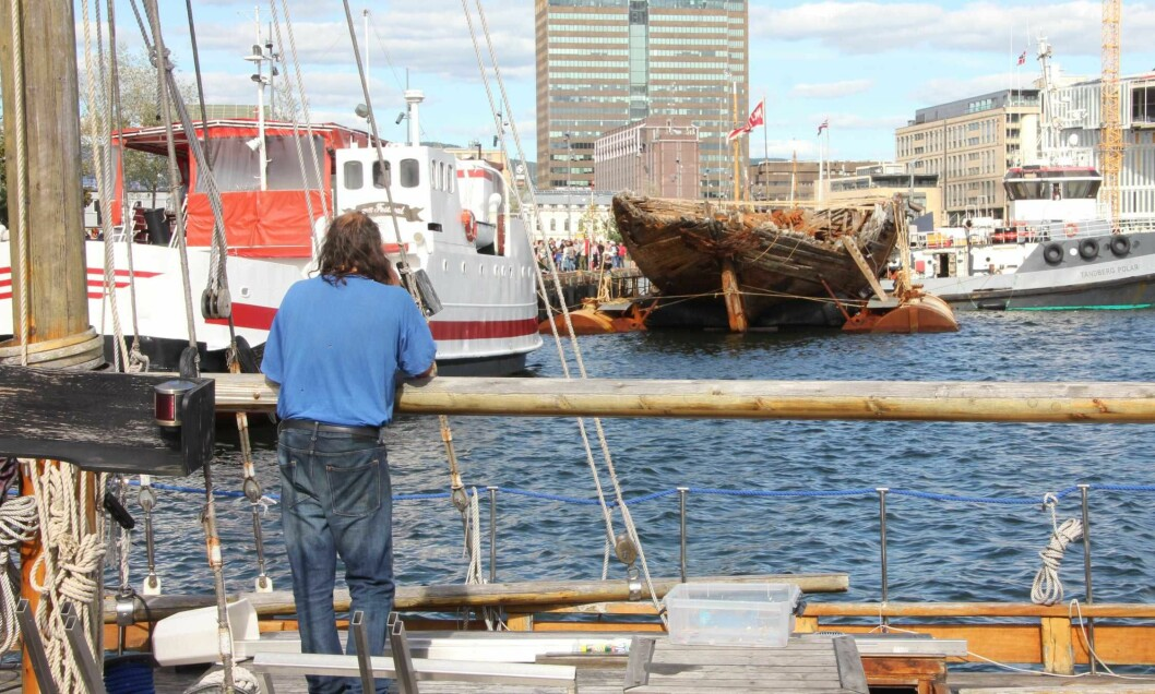 Maud er endelig tilbake i Norge og Oslo. Nå skal båten restaureres. Foto: Hans Magnus Borge
