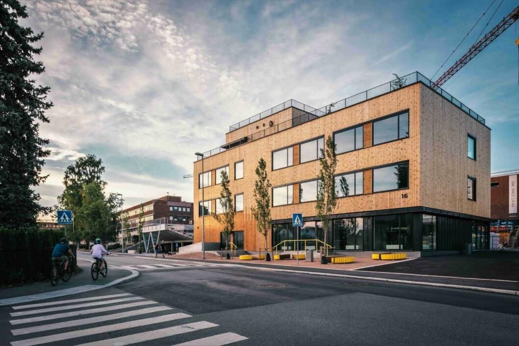 Slik ser den nye ungdomsskolen ut. Foto: Dmitry Tkachenko - HasleLinje