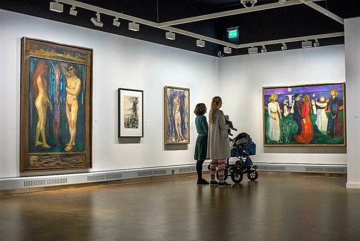 Nyt Munch med babyen. Foto: Munchmuseet