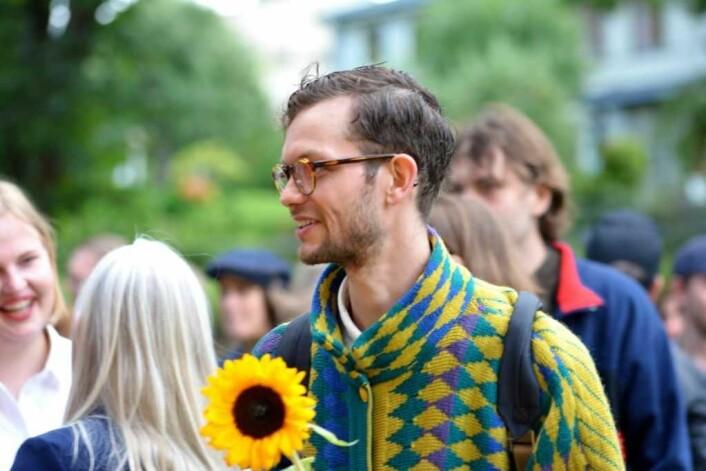 Bror Sander Berg Størseth er den andre halvdelen av Aurora Sader. Foto: Olga Andresen