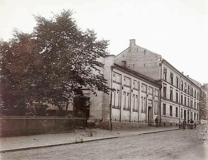 Datidens Thereses_gate 31, 1880-1890. Fotograf: Ukjent / Oslo museum