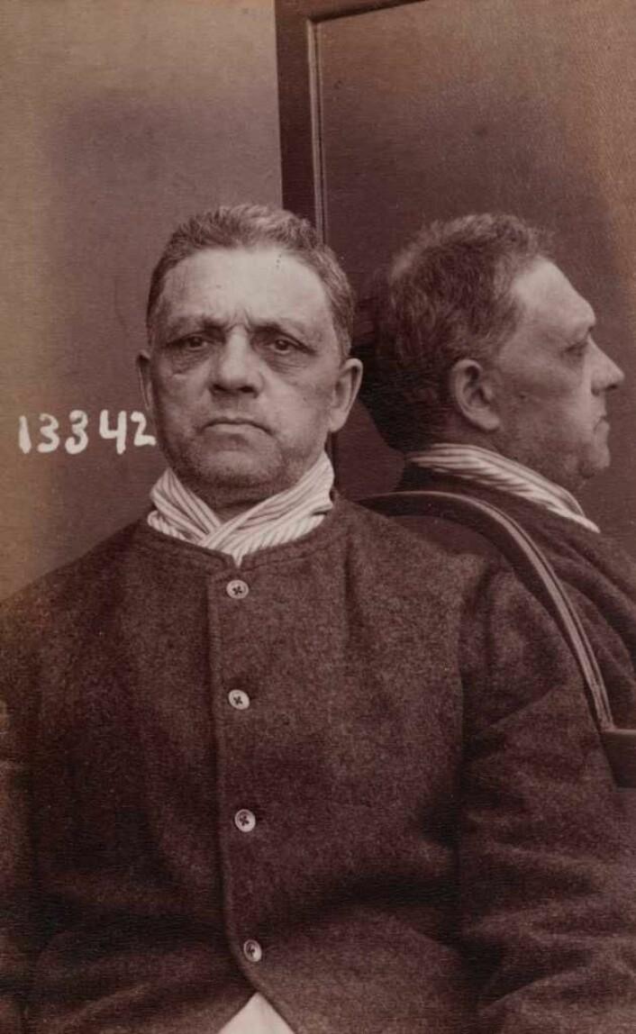 Borgenstjerne fotografert i Botsfengselet i 1913-1915. Foto: Oslo politikammers forbryteralbum/Digitalarkivet