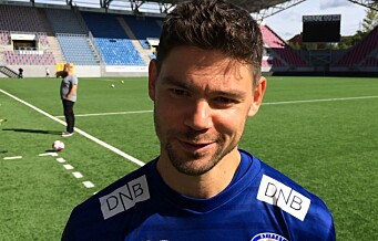 Vålerengas Daniel Fredheim Holm før Brann-kampen