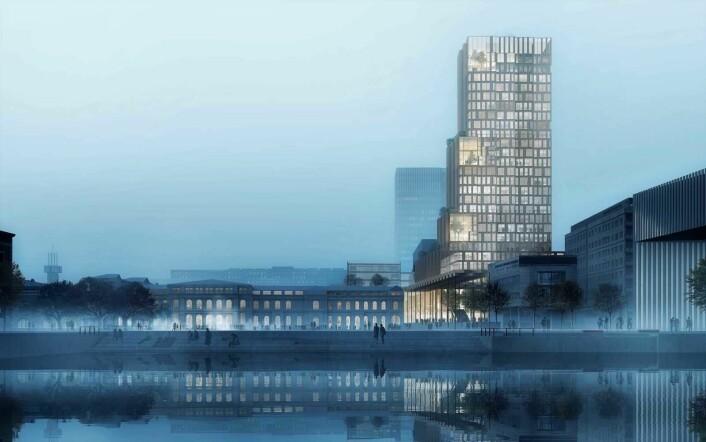 Tegning: Reiulf Ramstaf Arkitekter og C F Møller