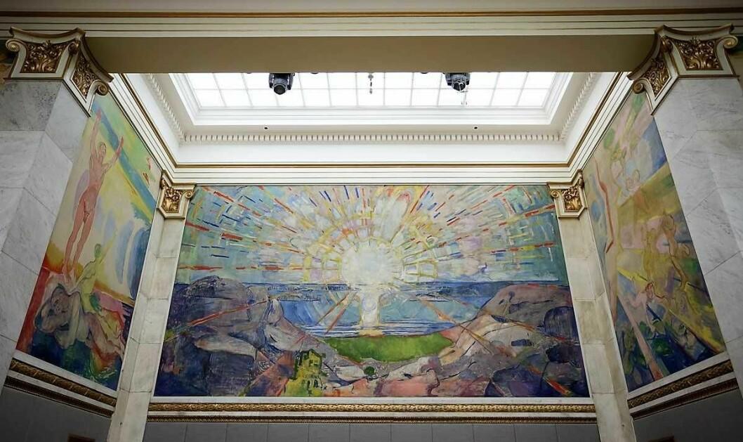 Nå blir Solen, av Munch, tilgjengelig for folk flest, en gang i måneden. Foto: Tore Sætre / Wikimedia Commons