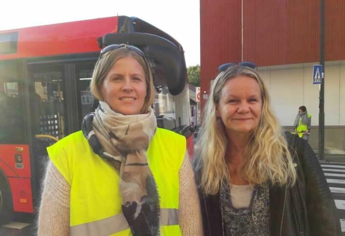 Camilla Rønes og Ingvild Smørvik i Aksjon Strømsveien synes ikke at tiltakene som er gjort har hatt nok virkning. Foto: Anders Høilund