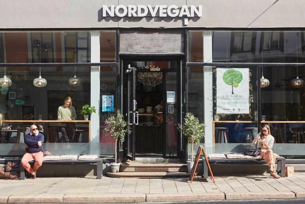 Nordvegan heter et utested med vegansk mat i Kristian IVs gate. Foto: Mandel & Sesam