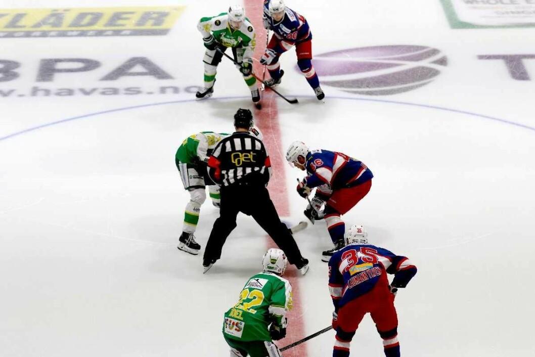 I dag starter endelig hockeysesongen. Første kamp er Frisk Asker-Ringerike. Søndag spiller Vålerenga mot Lillehammer. Foto: Atle Enersen