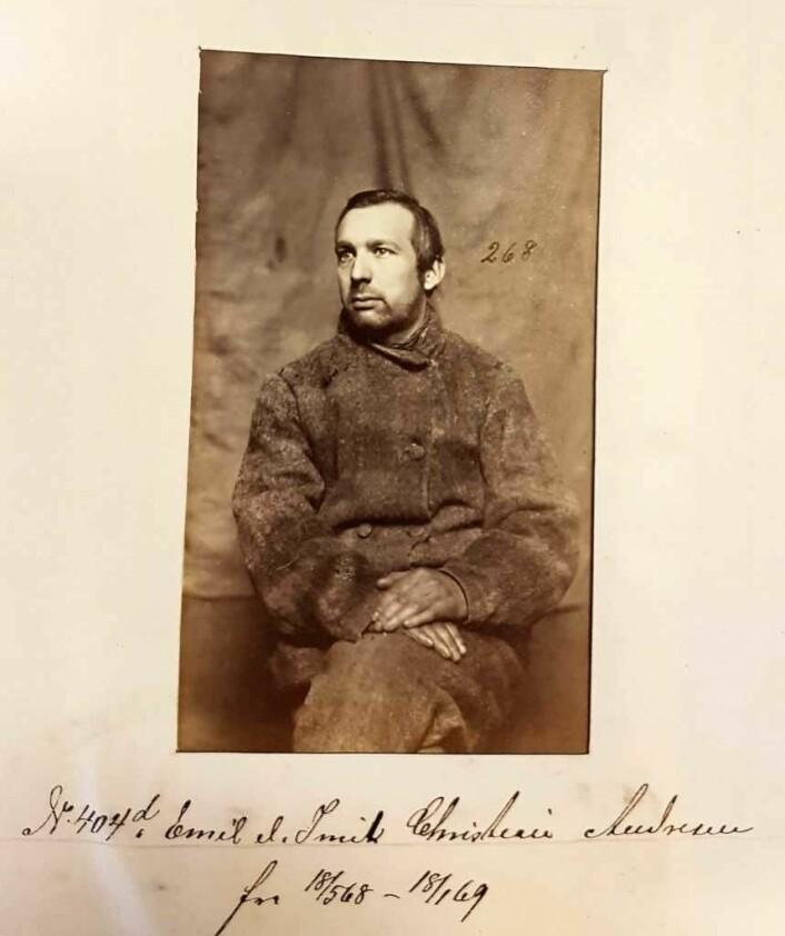 Imil Andresen i Botsfengselet, circa 1865-1880. Foto: Justismuseet
