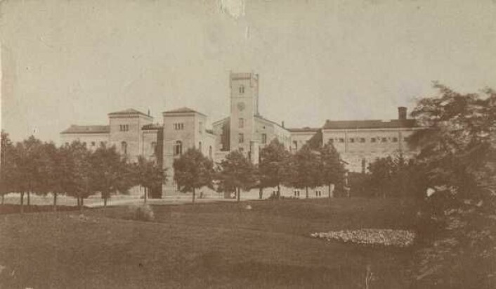Botsfengslet, circa 1870. Foto: Ukjent fotograf, Oslo museum