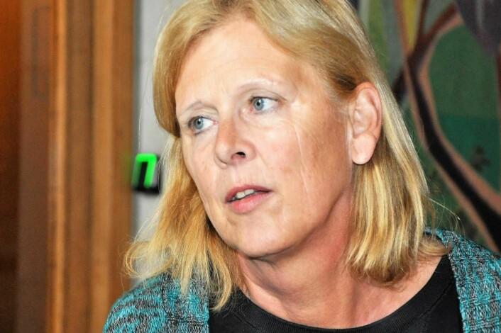 Camilla Wilhelmsen (Frp) fremmet forslag om å foreløpig utsette prosjektet Bilfritt byliv inntil en risiko- og sårbarhetsanalyse er laget. Men ble nedtsemt av byrådspartiene og Rødt. Foto: Arnsten Linstad