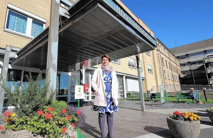 � For byrådet er det viktig at det nye lokalsykehuset på Aker ferdigstilles etter planen, sier helsebyråd Tone Tellevik Dahl. Foto: André Kjernsli