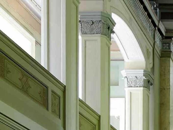Detalj fra Slottskapellet. Foto: Kjetil Rolseth, Det kongelige hoff