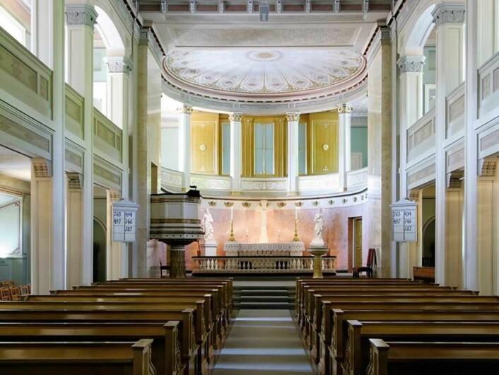 Slottskapellet innvendig. Foto: Kjetil Rolseth, Det kongelige hoff