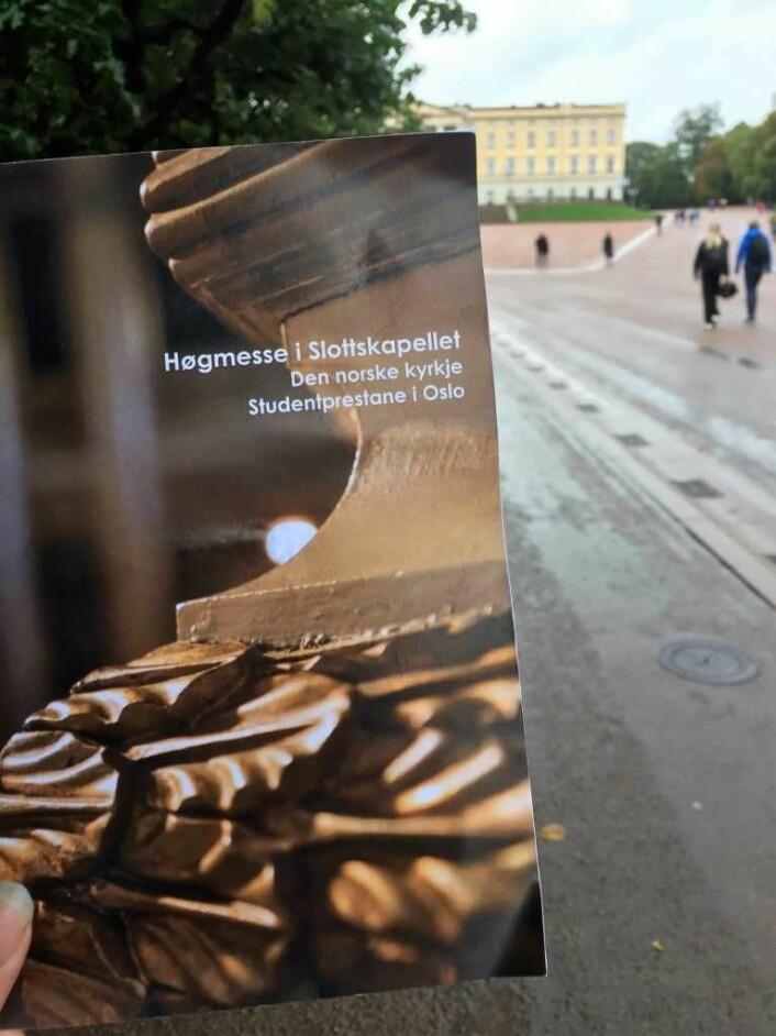 Gudstjeneste på slottet. Foto: Kjersti Opstad