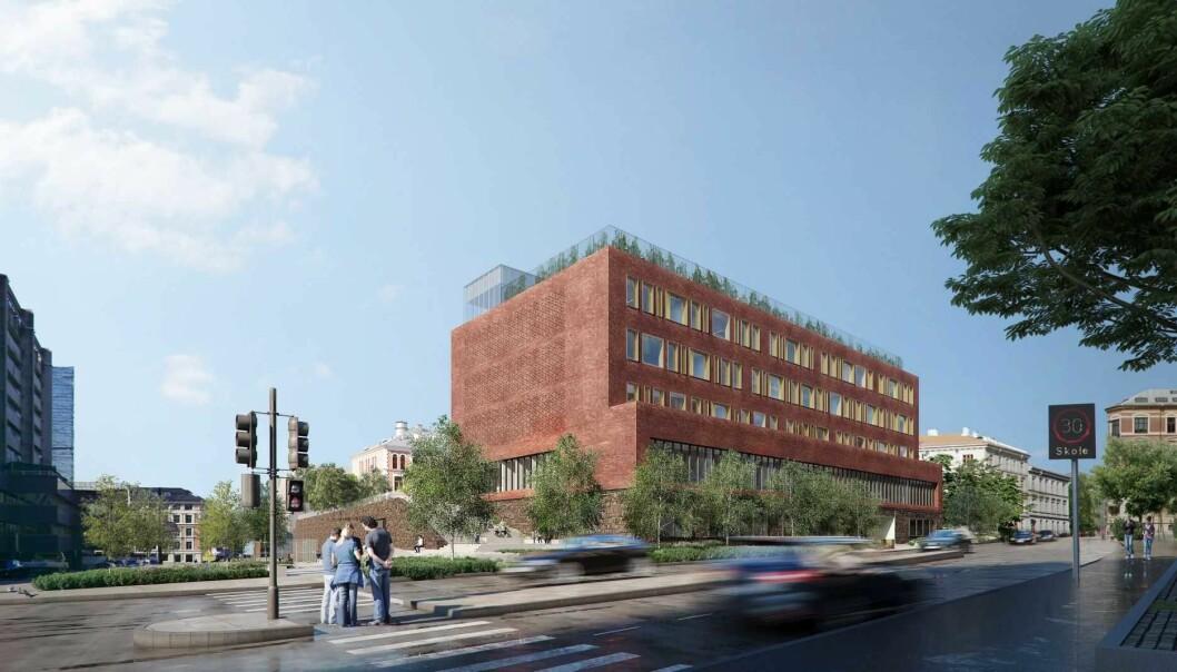 Slik skal nye Ruseløkka skole se ut. Illustrasjon: Gasa arkitekter