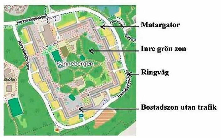 Slik ble klassiske svenske forsteder bygget på 60- og 70-tallet.