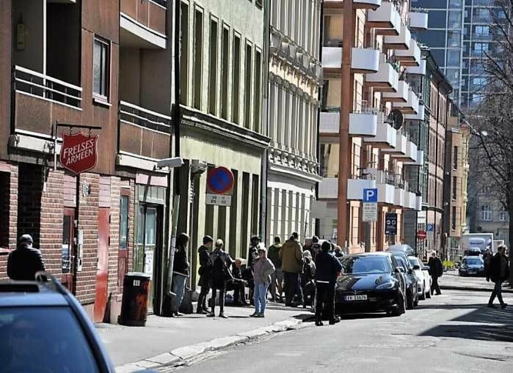 Grønland beboerforening mener det er på tide at Frelsesarméens rusomsorgstilbud Fyrlyset flytter ut av lokalene i Urtegata. Foto: Arnsten Linstad