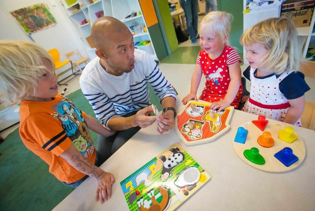 Skal vi få flere barnehagelærere, er vi avhengige av at det flere utdannes til det. Foto: Oslo kommune