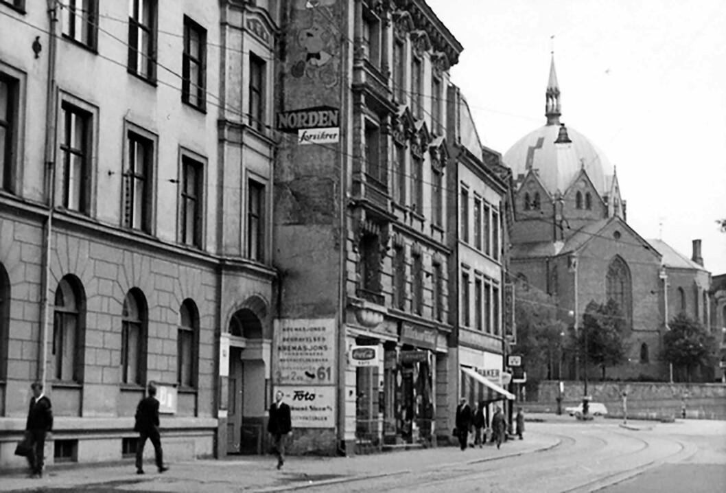 I Akersgata 55 lå boligkontoret i Oslo. Foto: Ukjent / Oslo museum