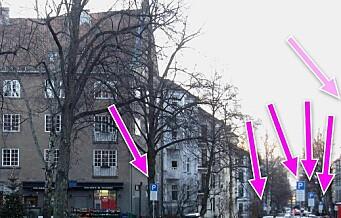 Fagerborg-beboere oppgitte over skiltjungel i forbindelse med beboerparkeringen. – Absurd mengde skilt