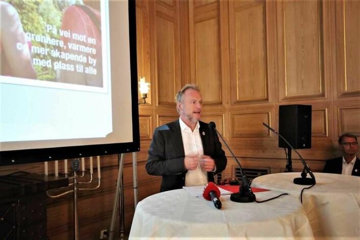 Byrådet er stolte av at Oslo kommune har fått trippel A-rating av kredittratingsbyrået Standard & Poor. Foto: André Kjernsli
