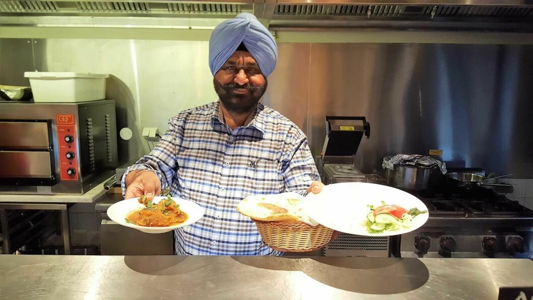 Bli med til nye Punjab Tandoori i Hausmanns gate, hvor du kan få servert mat av blant annet sjef og familieoverhode Harinder Singh. Foto: Tarjei Kidd Olsen