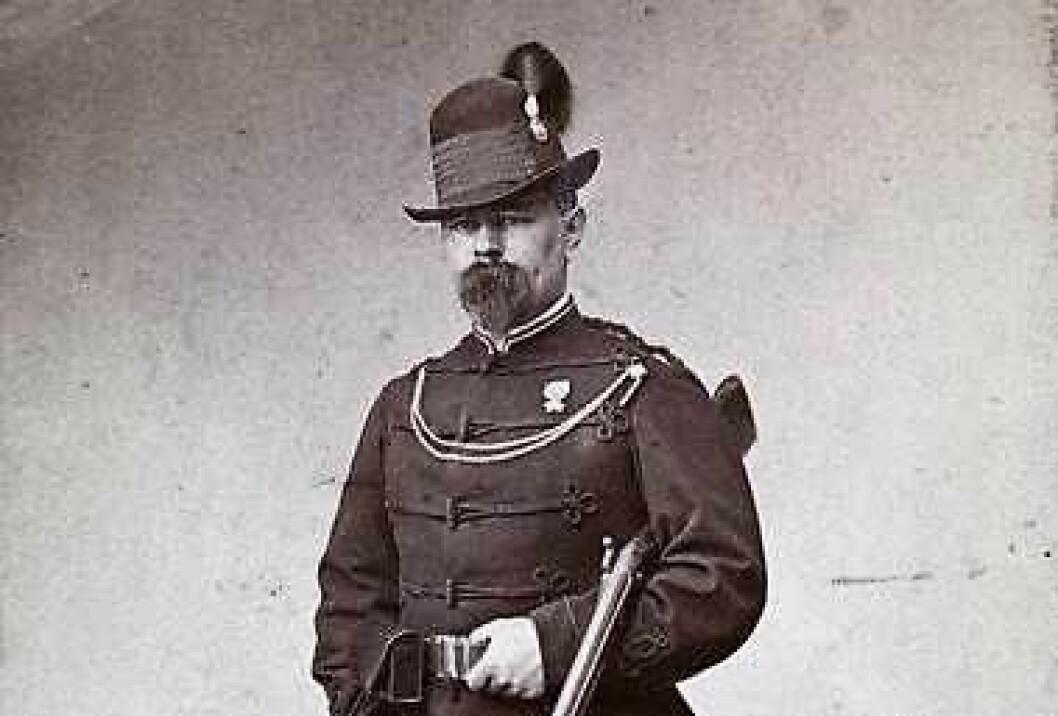 Nils Gabriel Dietrichson, alias Nils Gladelig, i circa 1860-65. Foto: Frederik Klem / Oslo museum
