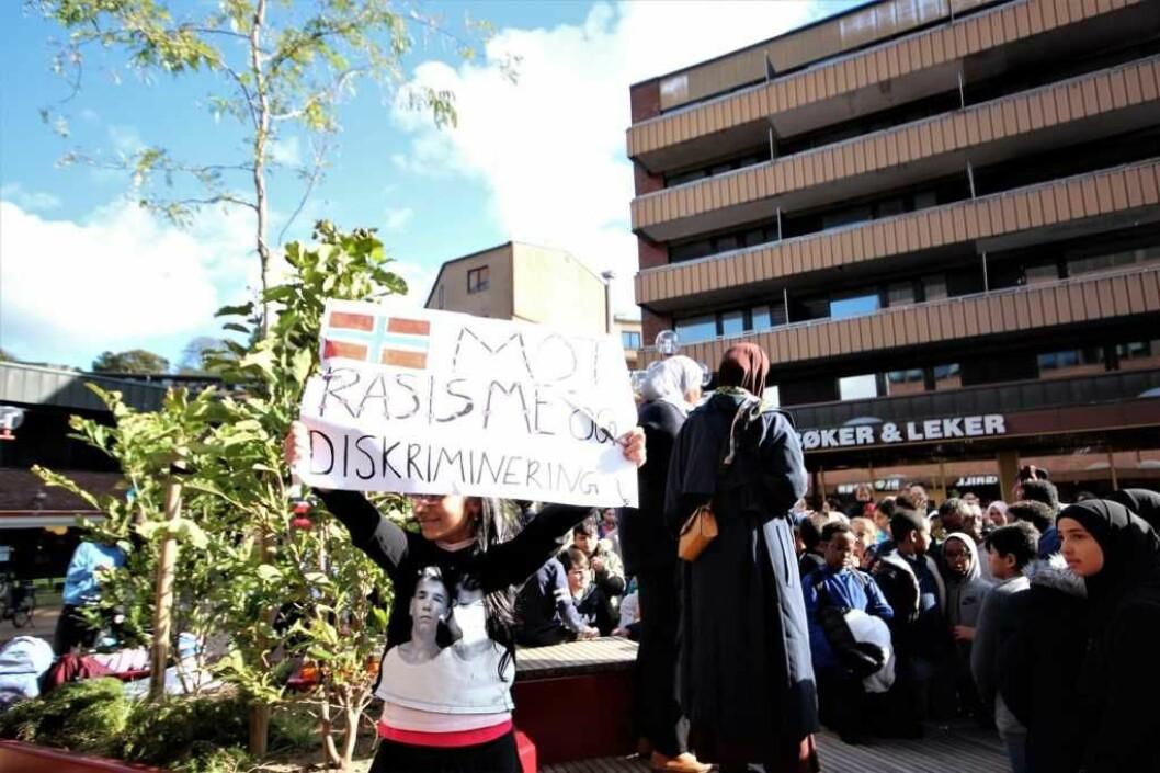 Tøyenbygda sier nei til rasisme og diskriminering. Foto: André Kjernsli