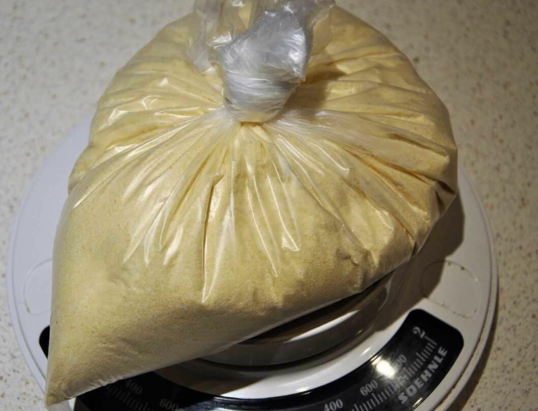 Politiet byttet ut metamfetamin med mel og gjemte posene der ungene fra barnehagen hadde funnet den første posen. Illustrasjonsfoto: Arnsten Linstad