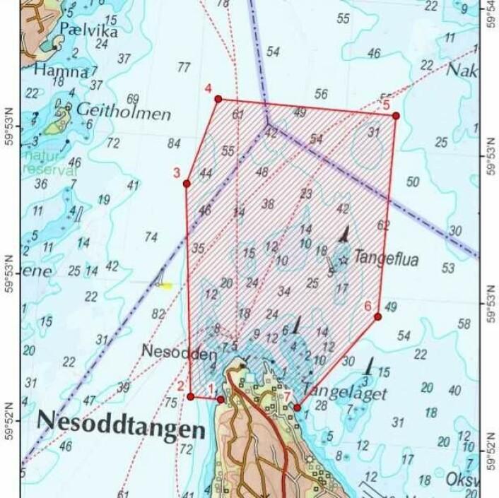 Fredningsområdet for hummer nord for Nesoddtangen er omlagt to kvadratkilometer stort. Mandag ble en ulovlig teine beslaglagt av politiet.