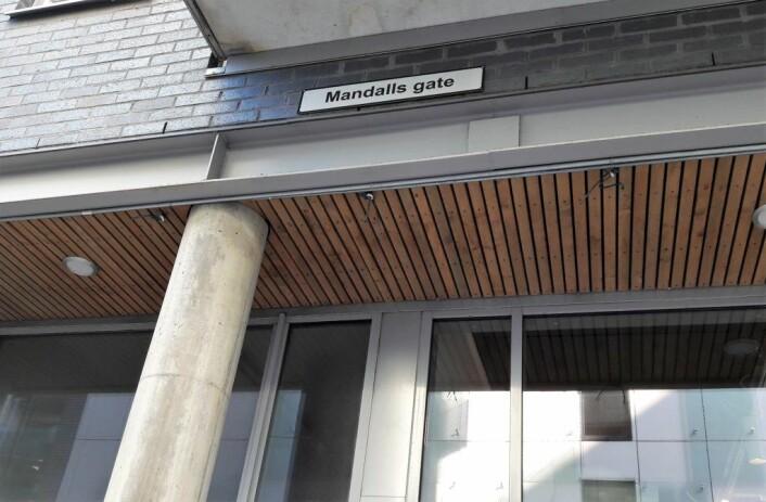 Nesten alle andre norske småbyer har gatenavn i Oslo, men ikke Mandal. I stedet har vi ei gate på Grønland oppkalt etter brødrene Mandall. Foto: Anders Høilund