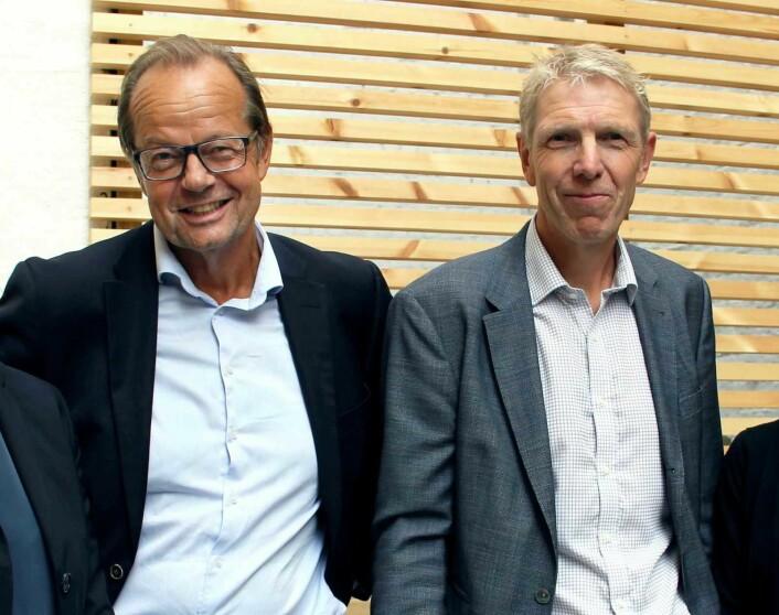 Både Boligbyggs styreleder Jan-Erik Nielsen (til v.) og administrerende direktør Jon Carlsen måtte tre til side i fjor. Foto: Boligbygg